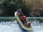 White water rafting in Murcia