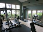 Fitness room is a minute walk away.