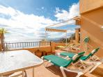 Another place to sunbathe on this beautiful spacious balcony or have a bbq and view from 3rd bedroom