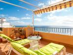 Beautiful views relaxing on massive terrace