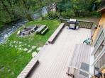Large deck with gas BBQ grill (we provide the propane).