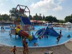 Fun for the children at a nearby water park