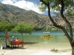 Venture into the mountains and enjoy sometime at Lake Kournas