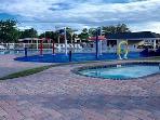 Hot tub at children's splash zone