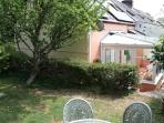 Lovely rear garden with patio set