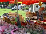 Local french markets are a must when visiting this part of the world.