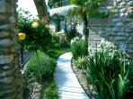 Entry walkway and garden.