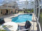 Private Pool and Jacuzzi not overlooked, large patio, surrounded by palm trees