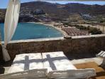Sea View from private veranda overlooking the beach of Kalo Livadi