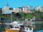 Tenby Harbour - trips leave daily in the Summer months.