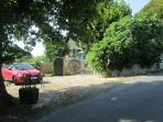 Car Park and entrance to B and B  and private Garden
