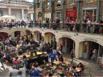 The famous Covent Garden Piazza - just moments walk from the apartment.