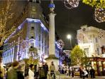 The view of Seven Dials, during Christmas