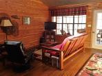 Living area Creekside Cabin