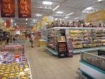 Inside view of La Sirena supermarket