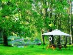 Have a picnic or BBq beside the river without leaving the property