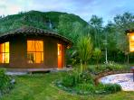 our temple for yoga and meditation ceremonies overlooking the mountains and the waterfall