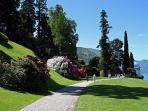 Stroll through the English gardens at Villa Melzi along the 'Lungo Lago' walk in Bellagio
