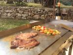 Cuisine en plein air avec la plancha