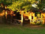 Four Rustic Log Cabins