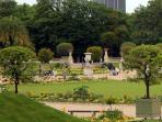 The Luxemburg gardens, 5 minute's stroll from the door.