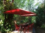 Impressions of the garden, a sitting area for outdoor dining