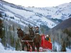 sleigh rides at Canyons Village