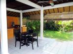 Charming Dining Room, kitchen and sunny yard