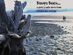 Bishops Beach is just a short  drive from Clover Lane Cottage.