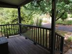 Leafy outlook into garden from front verandah