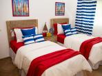 Dormitorio, cama individuales, WC+Ducha