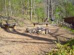 Firepit and outdoor seating