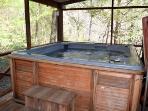 Screened in Hot Tub