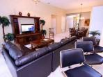 Living Area View w/Flat Screen TV