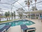 Pool,Water,Building,Palm Tree,Tree