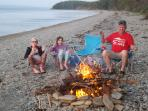 Campfire down at the beach