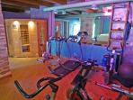 Fitness equipment and infra-red sauna