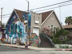 Funky neighborhood of Venice Beach.