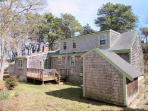 Outdoor deck, yard, and outdoor shower (enclosed) - 14 Pine Ridge Road Chatham Cape Cod New England Vacation Rentals