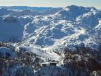 Vogel ski resort seen from above