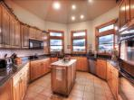 2-story kitchen with granite top counters/spices/dual appliances/new dishwashers