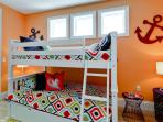 Fifth bedroom with bunk beds.