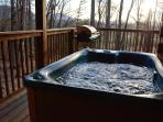 6 Person Hot Tub to enjoy on those cool Nights