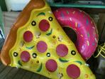 We've got LOTS of fun inflatables for you to use in the lagoon.