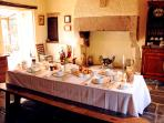 Well equipped french kitchen ready to enjoy a wonderful breakfast