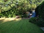 Bottom of the garden - home to an enormous Oak tree