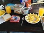 Pour 3$, un petit déjeuner tropical peut vous etre servi