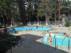 4th of July swimming pool at complex