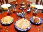 a delicious and complete breakfast is included in rental price