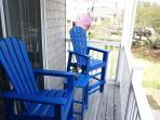 Second floor balcony/deck ideal to sip coffee or mimosas and watch the beach goers pass by